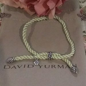 David Yurman Mint Green Silk Cord Bracelet
